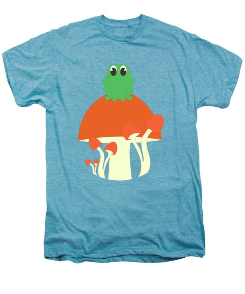 Small Frog Sitting On A Mushroom  Men's Premium T-Shirt by Kourai