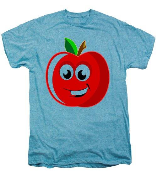 Smiley Tomato With Changeable Background  Men's Premium T-Shirt by Sebastien Coell