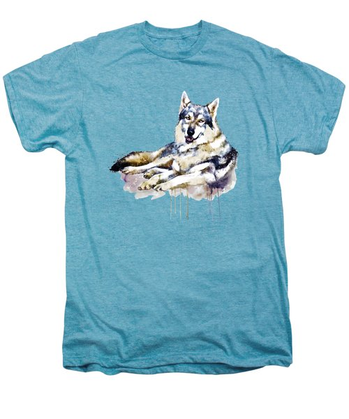Smiling Wolf Men's Premium T-Shirt by Marian Voicu