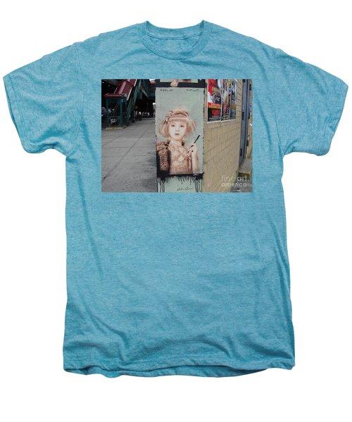 Smoking Girl  Men's Premium T-Shirt by Cole Thompson