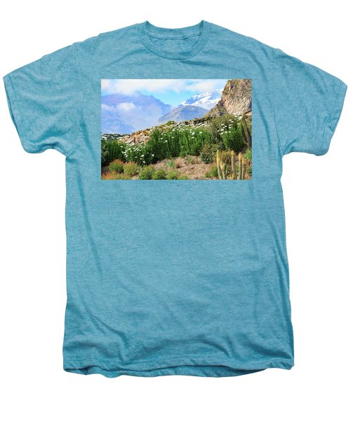 Men's Premium T-Shirt featuring the photograph Snow In The Desert by David Chandler