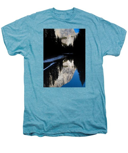 Men's Premium T-Shirt featuring the photograph Snow Sneaks In by Lora Lee Chapman