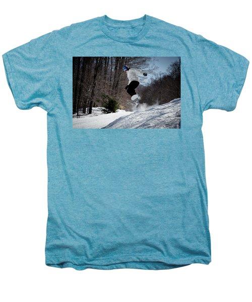 Men's Premium T-Shirt featuring the photograph Snowboarding Mccauley Mountain by David Patterson