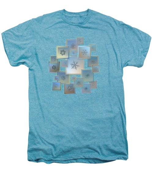 Snowflake Collage - Bright Crystals 2012-2014 Men's Premium T-Shirt