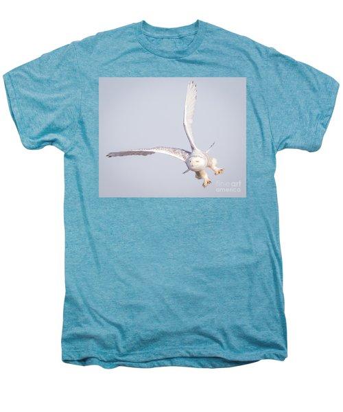 Snowy Owl Flying Dirty Men's Premium T-Shirt