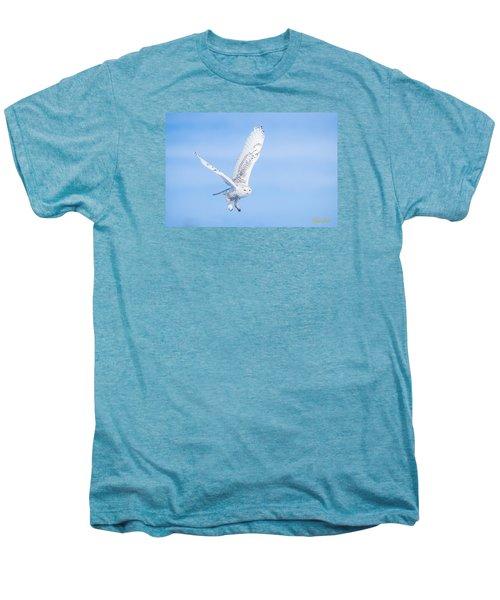 Snowy Owls Soaring Men's Premium T-Shirt