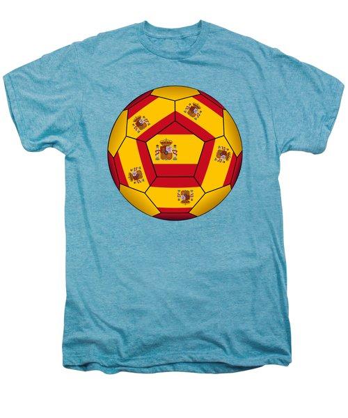 Soccer Ball With Spanish Flag Men's Premium T-Shirt