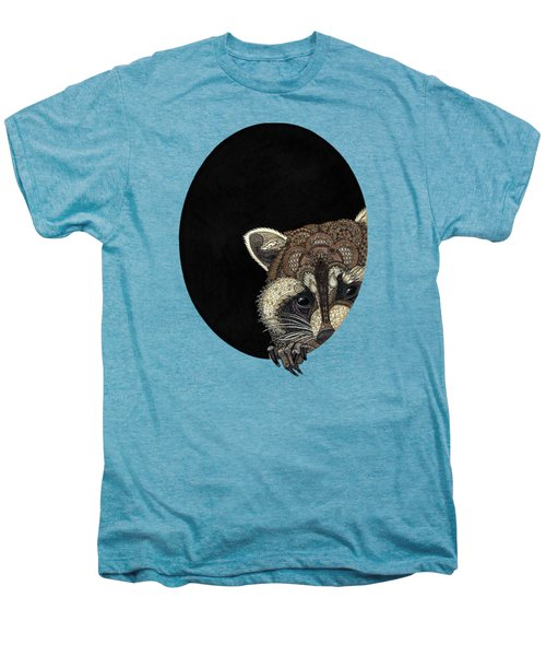 Socially Anxious Raccoon Men's Premium T-Shirt by ZH Field