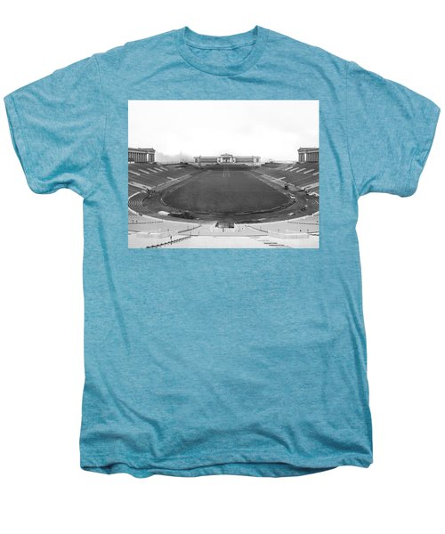 Soldier Field In Chicago Men's Premium T-Shirt by Underwood Archives