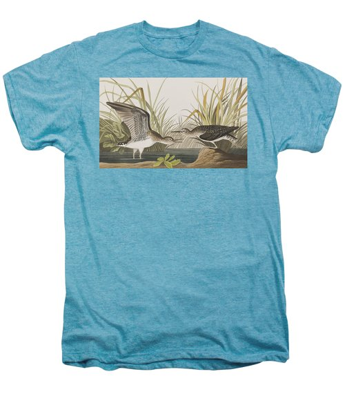 Solitary Sandpiper Men's Premium T-Shirt by John James Audubon