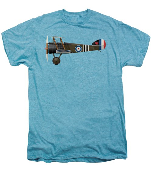 Sopwith Camel - B6313 June 1918 - Side Profile View Men's Premium T-Shirt by Ed Jackson