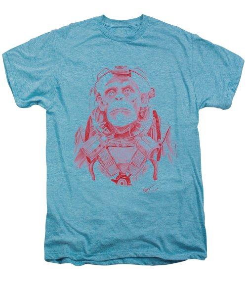 Space Chimp Men's Premium T-Shirt by Kenny Noorlander