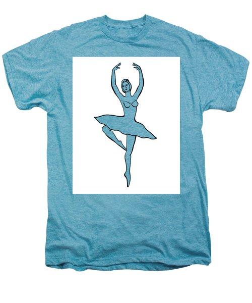 Spinning Ballerina Silhouette Men's Premium T-Shirt