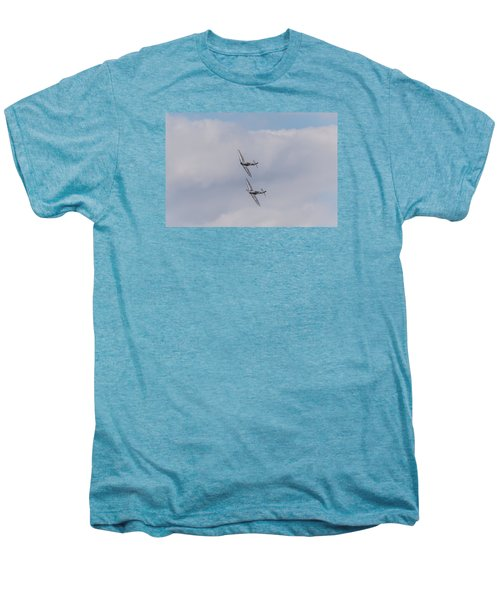 Spitfire Formation Pair Men's Premium T-Shirt by Gary Eason