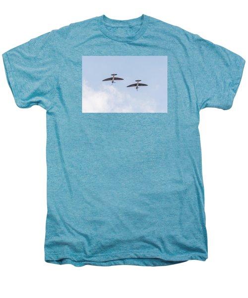 Spitfires Loop Men's Premium T-Shirt by Gary Eason