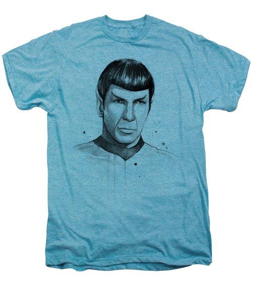 Spock Watercolor Portrait Men's Premium T-Shirt