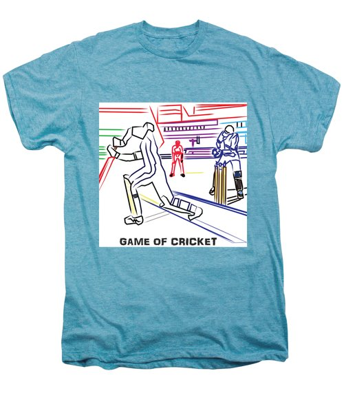 Sports Fan Cricket Played India England Pakistan Srilanka Southafrica Men's Premium T-Shirt by Navin Joshi