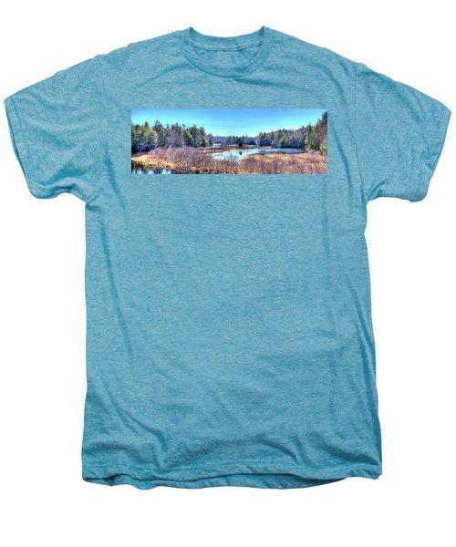 Men's Premium T-Shirt featuring the photograph Spring Scene At The Tobie Trail Bridge by David Patterson