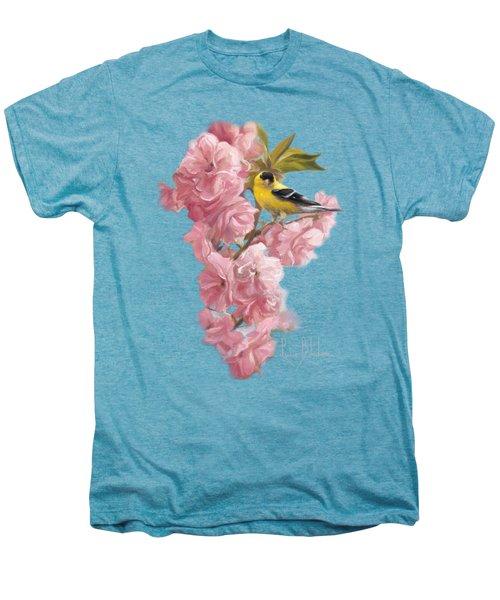 Spring Blossoms Men's Premium T-Shirt by Lucie Bilodeau