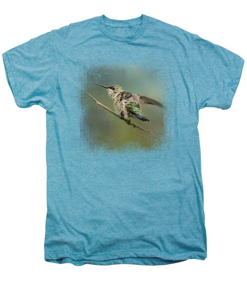 Spring Storm Hummingbird Men's Premium T-Shirt