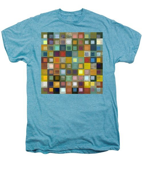 Men's Premium T-Shirt featuring the digital art Squares In Squares Five by Michelle Calkins