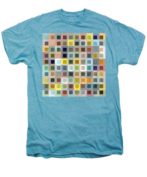 Men's Premium T-Shirt featuring the digital art Squares In Squares Three by Michelle Calkins