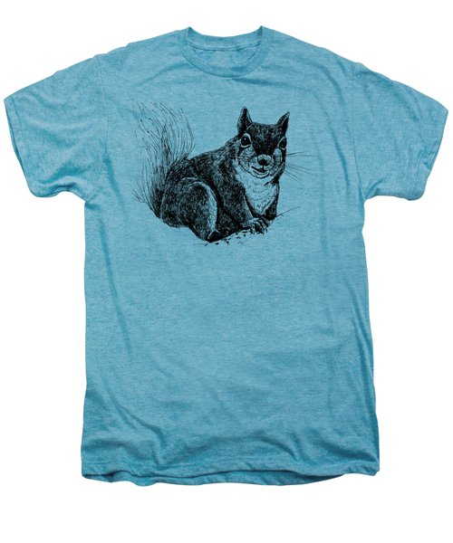 Squirrel Drawing Men's Premium T-Shirt by Katerina Kirilova