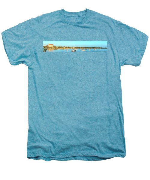 Men's Premium T-Shirt featuring the photograph St Augustine Panorama by Sebastian Musial