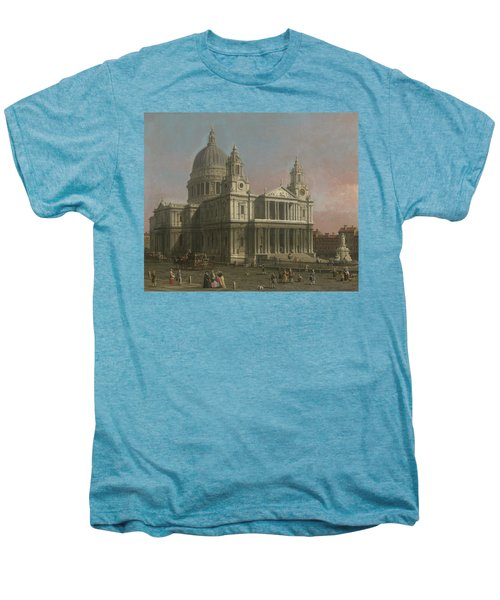 St. Paul's Cathedral Men's Premium T-Shirt by Giovanni Antonio Canaletto