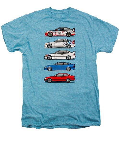 Stack Of Bmw 3 Series E36 Coupes Men's Premium T-Shirt