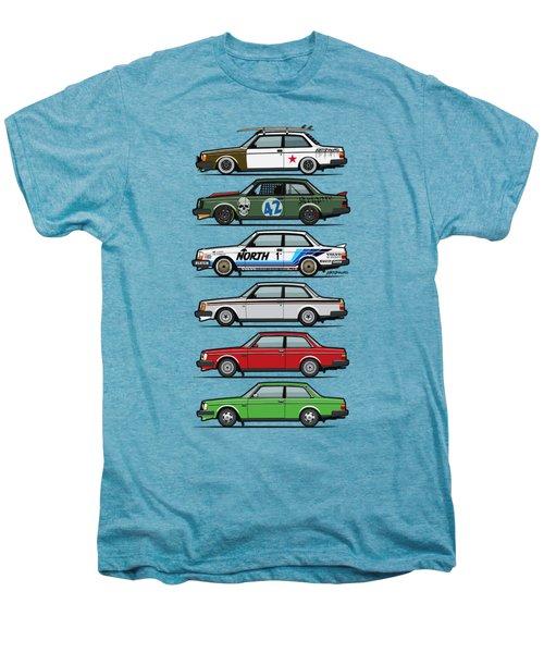 Stack Of Volvo 242 240 Series Brick Coupes Men's Premium T-Shirt