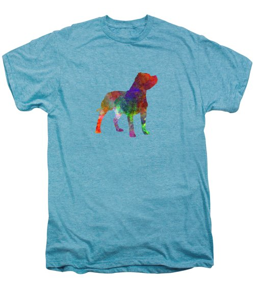 Staffordshire Bull Terrier In Watercolor Men's Premium T-Shirt by Pablo Romero