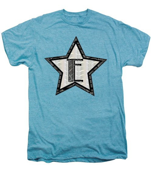 Star Of The Show Art Deco Style Letter E	 Men's Premium T-Shirt