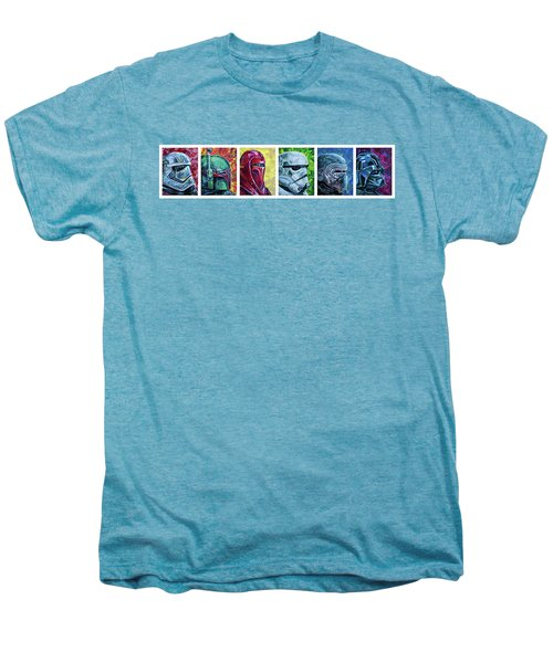 Men's Premium T-Shirt featuring the painting Star Wars Helmet Series - Panorama by Aaron Spong