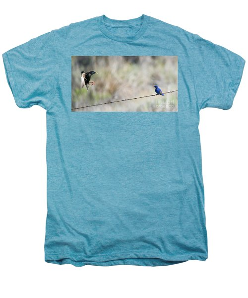 Starling Attack Men's Premium T-Shirt by Mike Dawson
