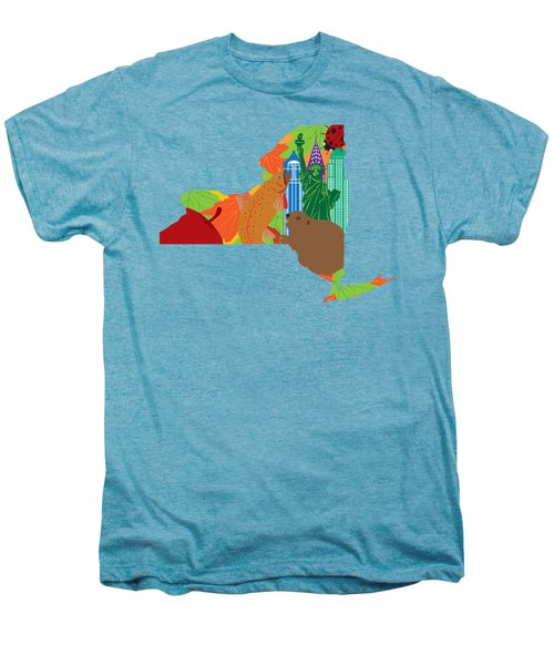 State Of New York Official Map Symbols Men's Premium T-Shirt by Jit Lim