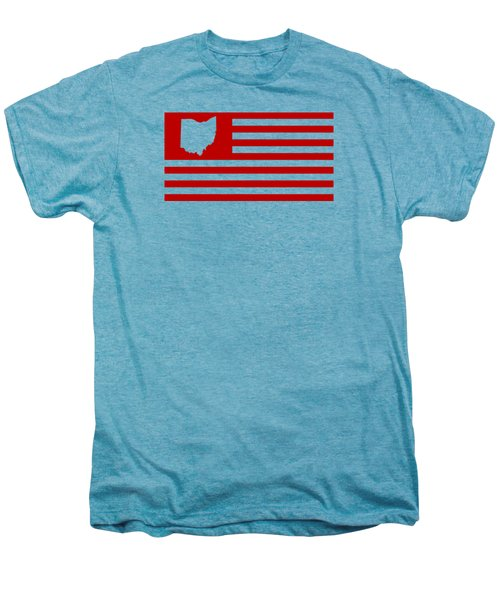 State Of Ohio - American Flag Men's Premium T-Shirt by War Is Hell Store