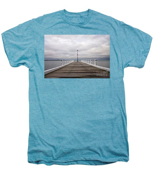 Men's Premium T-Shirt featuring the photograph Steampacket Quay by Linda Lees