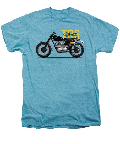 Steve Mcqueen Desert Racer Men's Premium T-Shirt by Mark Rogan