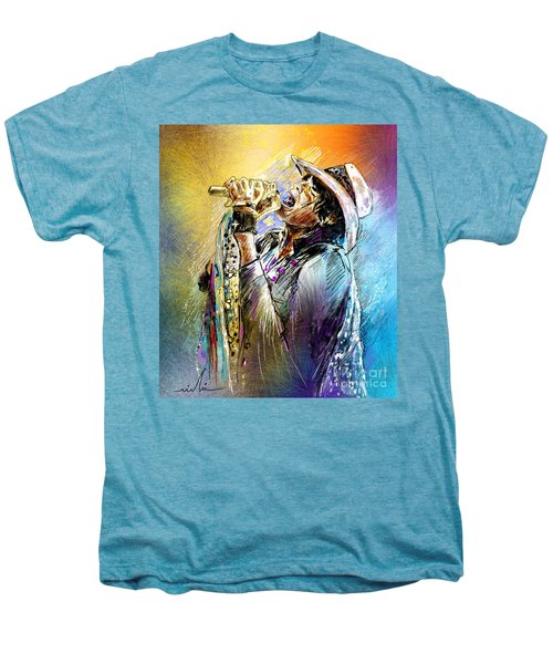 Steven Tyler 01  Aerosmith Men's Premium T-Shirt by Miki De Goodaboom