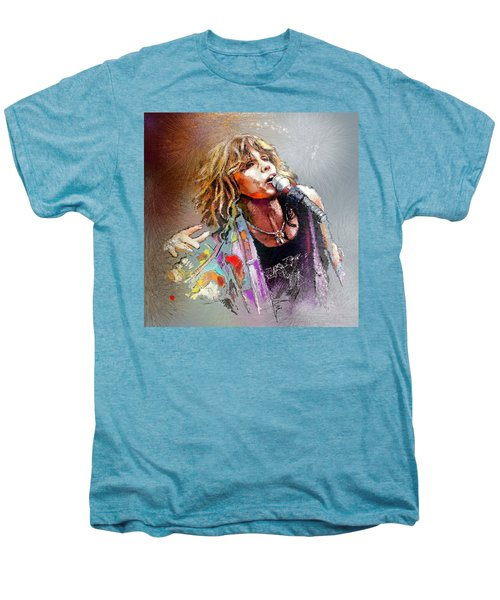 Steven Tyler 02  Aerosmith Men's Premium T-Shirt by Miki De Goodaboom