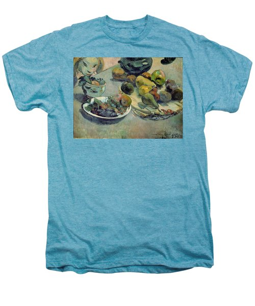 Still Life With Fruit Men's Premium T-Shirt by Paul Gauguin