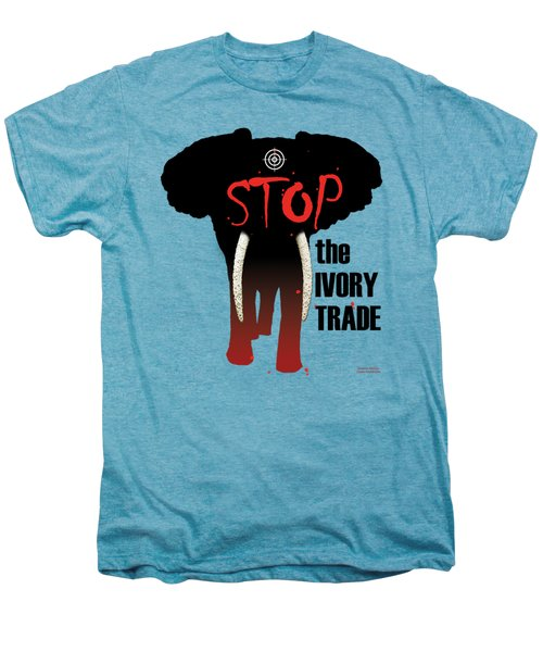 Stop The Ivory Trade Men's Premium T-Shirt by Galen Hazelhofer