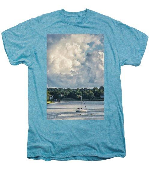 Stormy Sunday Morning On The Navesink River Men's Premium T-Shirt