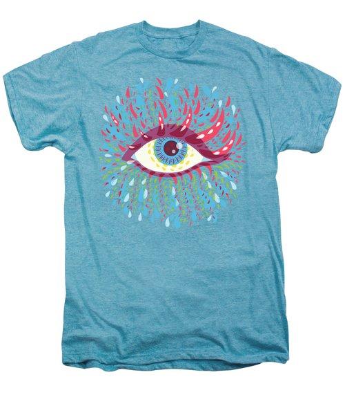 Strange Blue Psychedelic Eye Men's Premium T-Shirt by Boriana Giormova