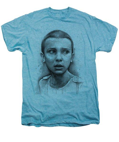 Stranger Things Eleven Upside Down Art Portrait Men's Premium T-Shirt