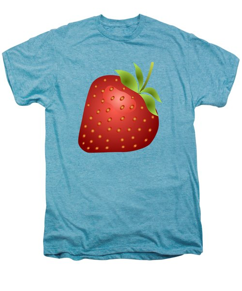 Strawberry Fruit Men's Premium T-Shirt by Miroslav Nemecek