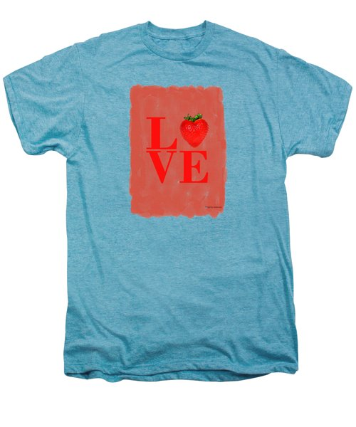 Strawberry Men's Premium T-Shirt by Mark Rogan