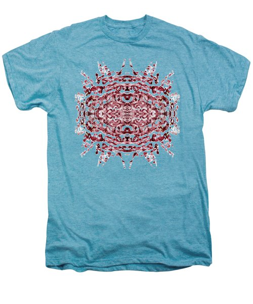 Strawberry Red Abstract Men's Premium T-Shirt by Frank Tschakert
