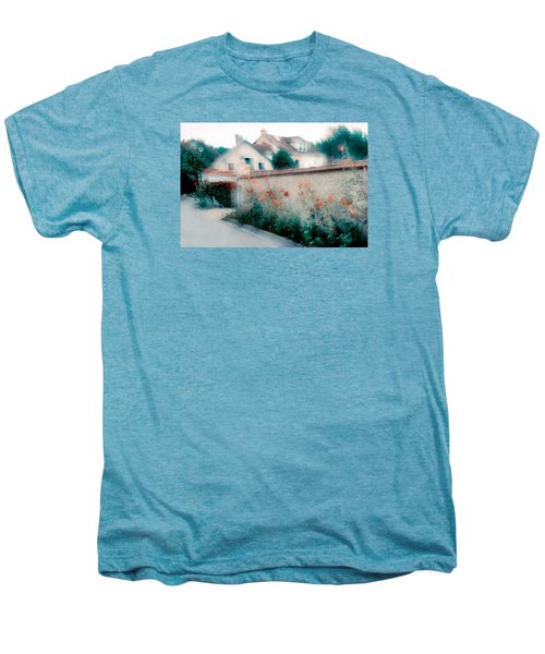 Street In Giverny, France Men's Premium T-Shirt by Dubi Roman